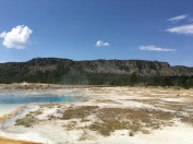Buscuit Basin is filled with geysers.